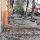 Последствия пожара в Красноводске