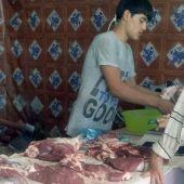 В Ашхабаде в продаже временно появилось свежее мясо