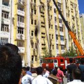 Ашхабад: Пожар в жилой многоэтажке (фото)