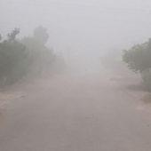 Солевая буря в Туркменистане